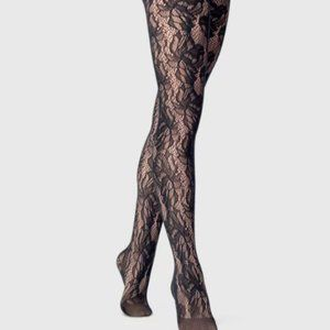 Floral Net Tights U-033